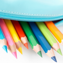 pencils in pencil case